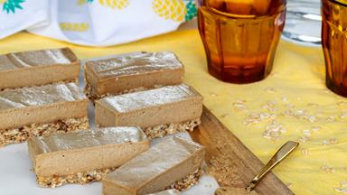 Raw and yummy ginger slice