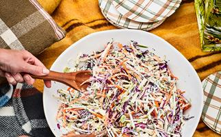 Herby apple slaw