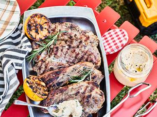 Rosemary, garlic and lemon marinated lamb chops