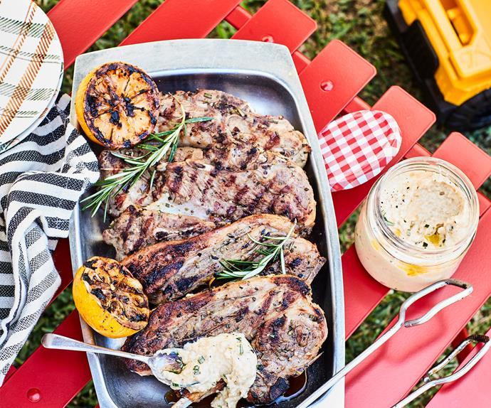 Rosemary, garlic and lemon marinated lamb chops