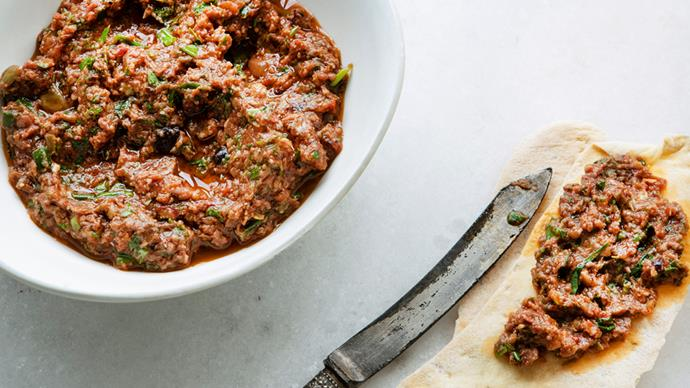 Olive, sundried tomato and herb tapenade