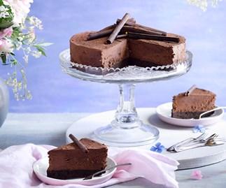 Chocolate Irish cream mousse cake