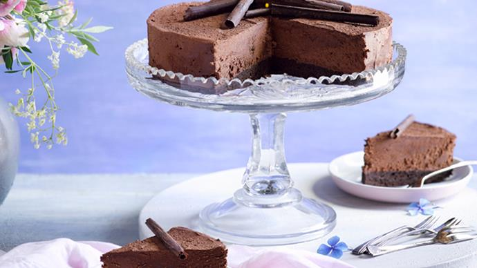 Chocolate Irish cream mousse cake