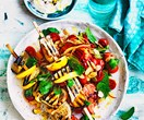 Sumac eggplant and chilli tomato salad