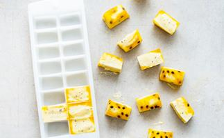 Passionfruit fro-yo bites