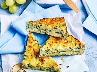 Twisted courgette slice