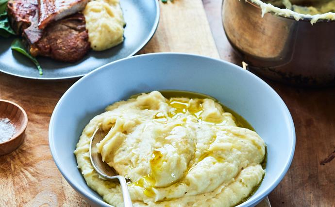 Parsnip, pear and sage purée