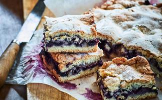 Pear and blueberry shortcake