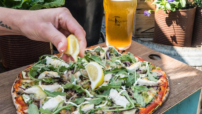 Luke's Kitchen's 'neverfail' fish pizza