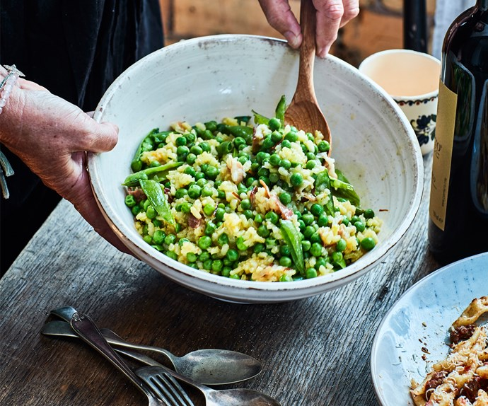 Venetian rice and peas