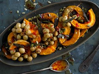 Roasted grape and pumpkin agrodolce platter