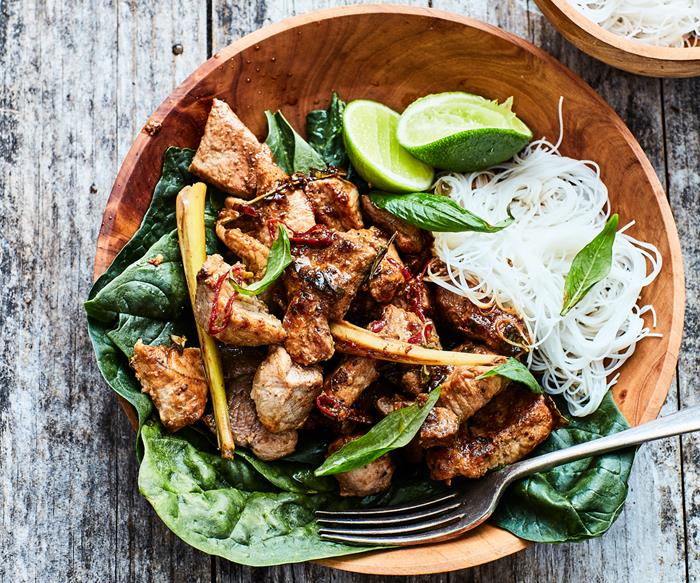 Ginger and lemongrass pork