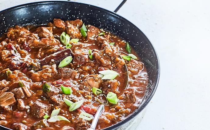 Pork and plum casserole