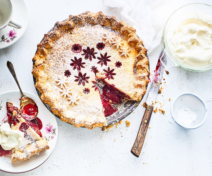 Spiced plum pie
