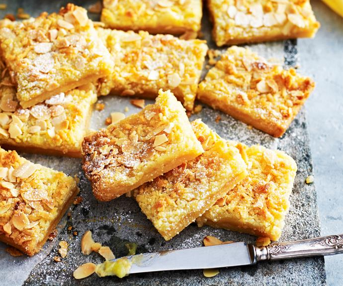 Lemon almond slice