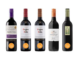 The best Merlot, Cabernet Sauvignon and other varieties from Food's Top Wine Awards 2019