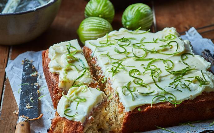 Feijoa coconut lime cake