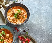Chicken meatball laksa