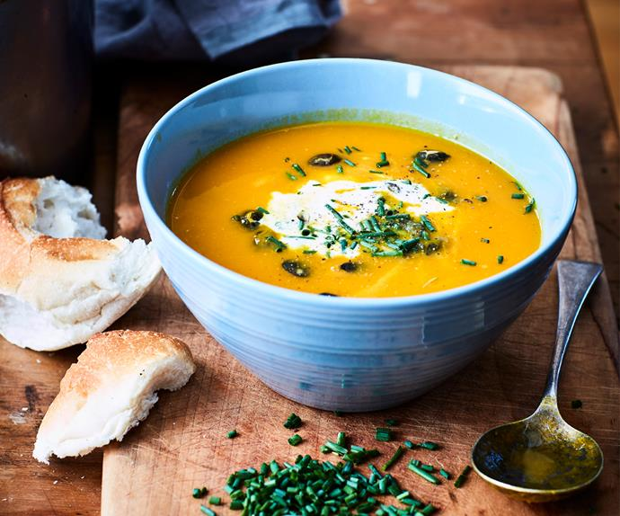 Pumpkin soup with delicate flavours
