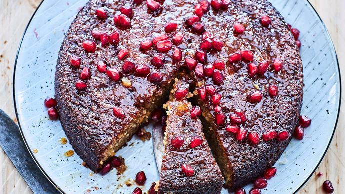 Orange and pomegranate cake