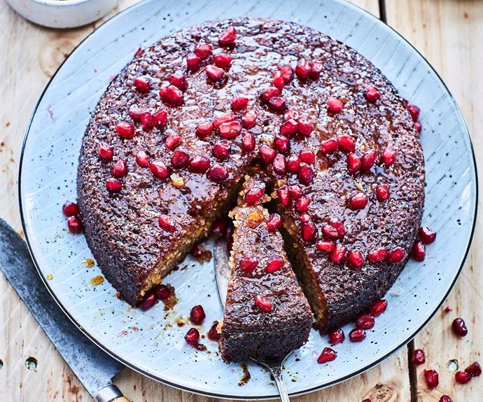Orange and pomegranate cake