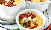 Smoky cauliflower and corn chowder