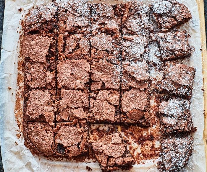 Gluten-free walnut chocolate brownie