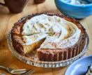 Spiced pumpkin pie with maple crème