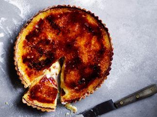 Vanilla custard and burnt-toffee tart