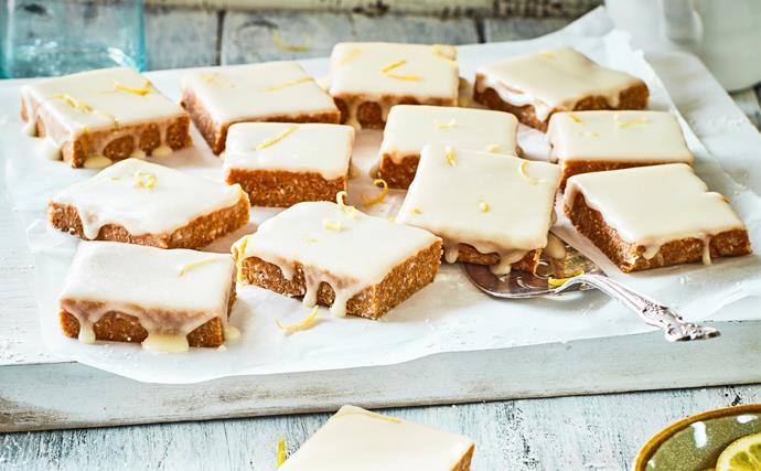Easy zingy no-bake lemon slice