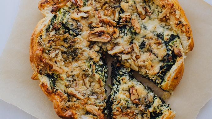 Spinach, blue cheese and ricotta galettes