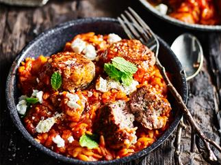 Lamb and mint meatballs