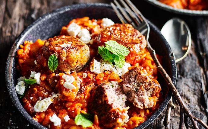 Lamb and mint meatballs