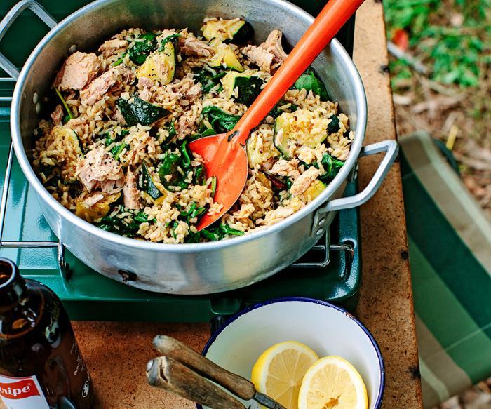 Five-minute tuna, rice and quinoa