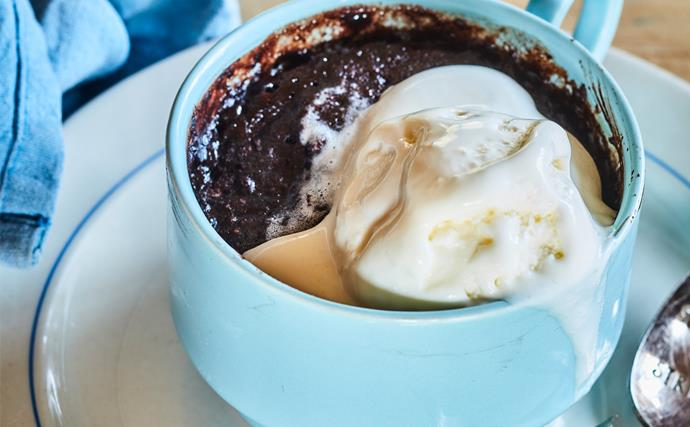 Mug mud cake pudding