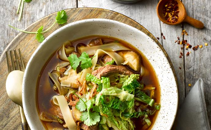 Beef and hoisin pho
