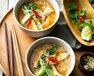 Chicken pho with lime and coriander