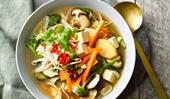Vegetable and tofu pho