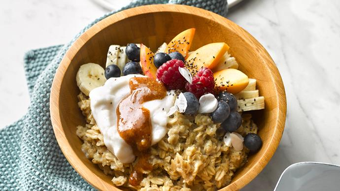 Spiced porridge with maple nut butter