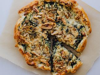 Spinach blue cheese and ricotta galettes