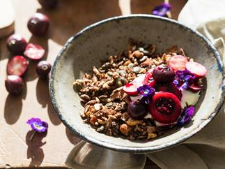 Toasted chocolate muesli
