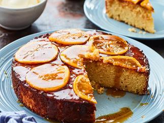 Gluten-free orange drizzle cake