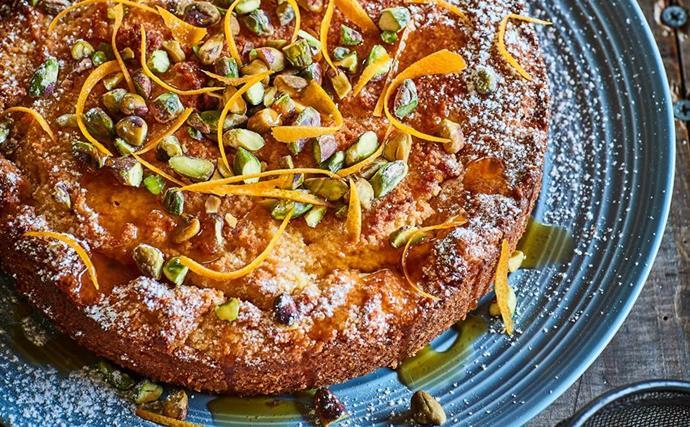 Gluten-free lemon and grapefruit honey cake