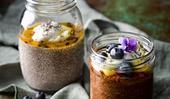 Chia pudding pots