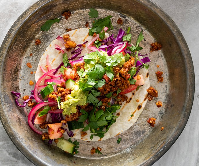 "[Nadia Lim's vegan tacos with walnut and almond chilli](https://www.foodtolove.co.nz/recipes/nadia-lims-vegan-tacos-with-walnut-and-almond-chilli-33775|target=""_blank"")"