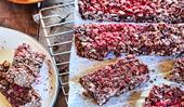 Gluten and dairy-free choco-oat slice