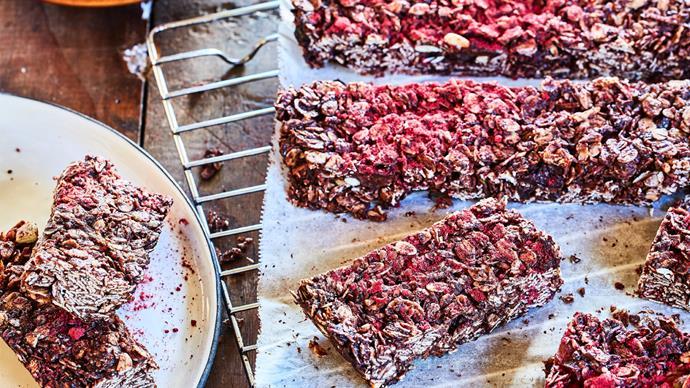Choco-oat slice