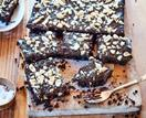 Chocolate and salted peanut slice