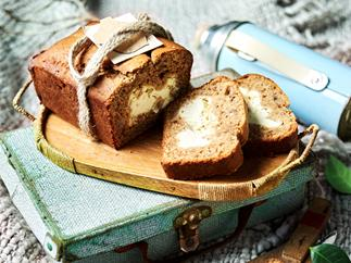Easy banana bread with cream cheese filling