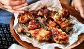 Nici Wickes' teriyaki chicken drumsticks